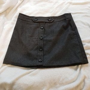 GAP Gray Recylced Wool A-Line Mini Skirt